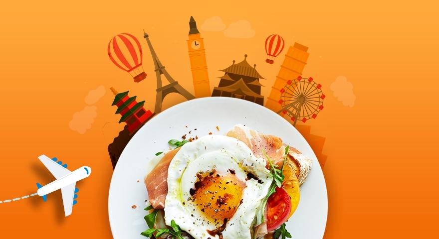 A presença dos ovos nos cafés da manhã pelo mundo
