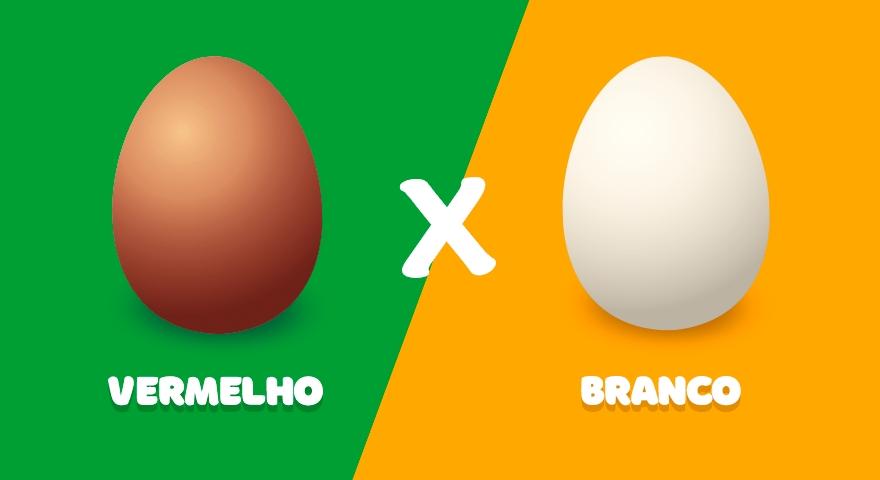 Qual a diferença entre os ovos brancos e vermelhos?