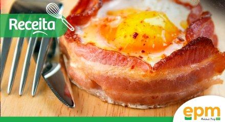Receita: ovos ao forno com bacon